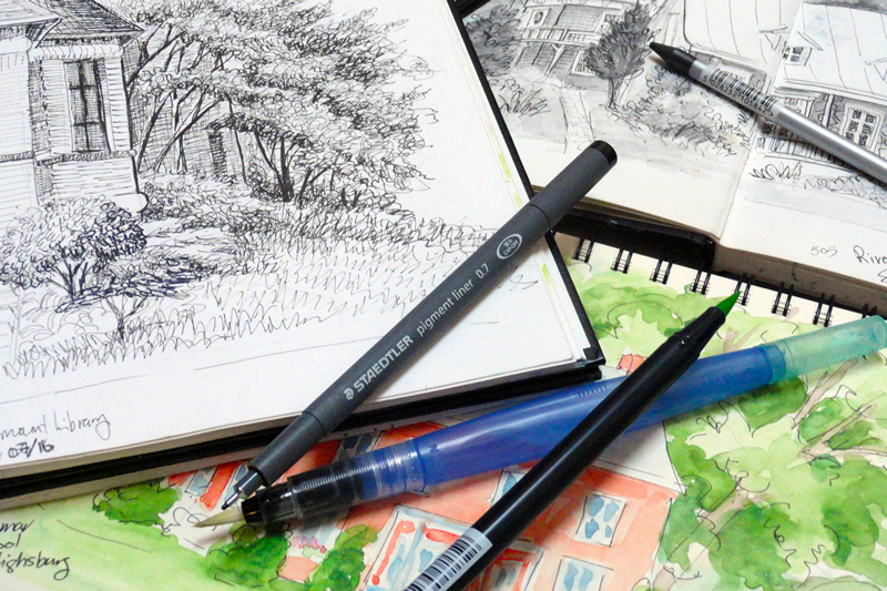 Outdoor Landscape Sketching